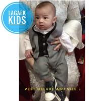 vest anak DELUXE 0-1-2-3-4-5 tahun setelan vest resmi abu7in1 lengkap