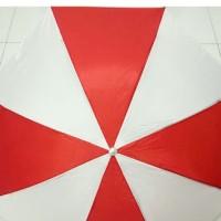 Payung Lipat 3 Polos Merah Putih