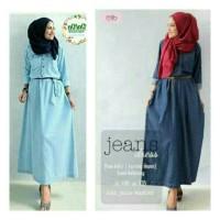 Gamis Cantik Kekinian Termurah  Basic Jeans Maxi (Aria Maxi Jeans)