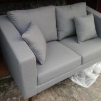 Sofa Two Seater Modern Retro Minimalis (kursi sofa, sofa retro, sofa