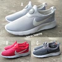 Sepatu Kets Running RosheRun Slip On Good Quality Lokal