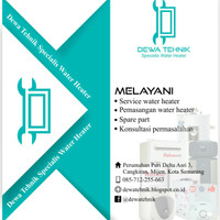 Jasa service dan pemasangan water heater di Semarang
