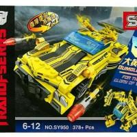 Mainan lego transformers robot optimus Bumblebee car tarnsformer brick