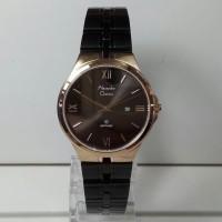 jam tangan alexandre christie ac 8541 wanita black soft gold