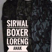 BEST SELLER celana sirwal boxer loreng anak
