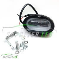 Dijual Lampu Tembak Sorot Motor Mobil Led Cree Owl 2 Mata Lensa Cutoff
