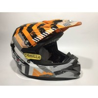 helm kyt full face HELM KYT CROSS OVER DRIFT WHITE ORANGE TRAIL
