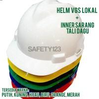 Helm Proyek VGS Lokal + Inner Sarang Tali dagu Lengkap Murah VGuard