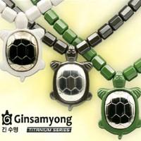 Ginsamyong titanium series (1kalung+1gelang) motif kura dan kabah