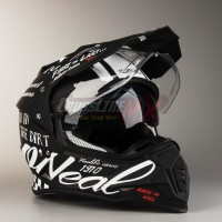 Helm Cross ONeal Sierra 2 Torment Adventure Hitam Helmet O'Neal II Bla