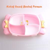 Toples Kue Bentuk PERMEN Kotak Snack, Kue, Tutup Kedap Udara
