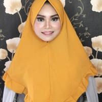 Khimar Hijab Jilbab Kerudung Syari Wolfis Haba Kuning Rempel Polos