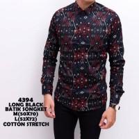 Promo!! Kgk Kemeja Pria Batik Songket Lengan Panjang Best Seller Baju