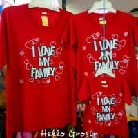 Promo!! Baju Kaos Pasangan Keluarga Couple Family Papa Mama Anak Bapak