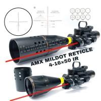 4-16X50AOIR RIFLESCOPE OPTICAL SIGHT FULL SIZE MILDOT AMX HOLOGRAPHIC