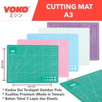 Cutting Mat 9Sea Ukuran - A3 45x30cm/Double Side - Dua Sisi (Nine Sea)