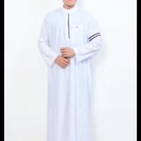 (Produk Baru!!) Pakaian Muslim Gamis Pria Jubah Putih Model Nabawi Al-