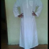 (Turun Harga!!) Gamis Jubah Pria Putih Bahan Katun/Perlengkapan Haji
