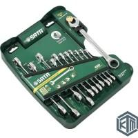 12 Pcs Kunci Ring Pas Ratchet SET Wrench Combination 09066 SATA TOOLS