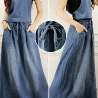 NEW ARRIVAL Overall rok kodok panjang muslim soft jeans BARU