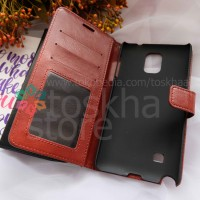 Samsung Note 4  Flip Wallet Leather Case