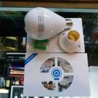 Harga ip camera bulb cctv wifi panoramic eye 360 kamera | Hargalu.com