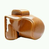 Leather Case Kamera Mirrorless for Canon EOS M5 - Brown Murah