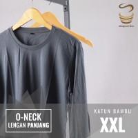 Kaos Polos Katun Bambu 2XL Lengan Panjang (Long Sleeve Cotton Bamboo)
