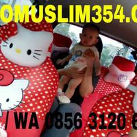 Jual Sarung Jok Mobil 18 in 1 hello kitty lengkap full set depan belakang Murah