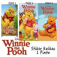 Stiker Kulkas 1 pintu 2 pintu Motif Kartu Winnie The Pooh