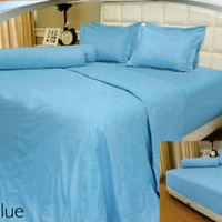 SPREI VALLERY QUINCY 180 X 200 X 30 KING - EMBOS POLOS LIGHT BLUE
