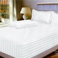SPREI VALLERY QUINCY 180 X 200 X 30 KING - EMBOS POLOS WHITE SALUR