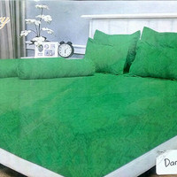 SPREI VALLERY QUINCY 120 X 200 X 30 SINGLE - EMBOS POLOS DARK GREEN
