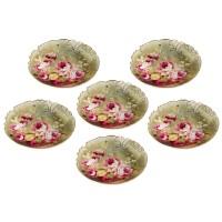 Piring Keramik Capodimonte isi 6 pcs Mawar
