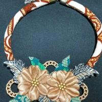 Harga kalung etnik kalung batik kalung fashion wire fringe bunga | Pembandingharga.com