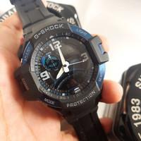 Jam Casio G-Shock GA-1000-2B Black Blue Original BM Kompas Aktif