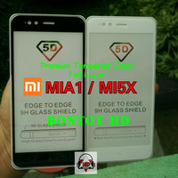 TEMPERED GLASS 5D XIAOMI MIA1 / MI5X FULL LAYAR HP CURVE EDGE 9H MI A1