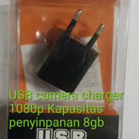Spy Cam Camera M1 Alat Sadap Camera USB Charger Adeptor 8GB