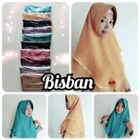 Jilbab Instan Bisban Double Layer List Pita