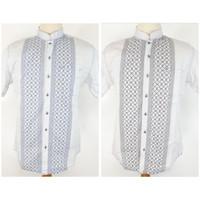 Kemeja Katun Regular Fit/Baju Koko Lengan Pendek Pria warna Pastel