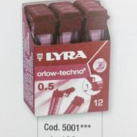 Isi pensil mekanik 0,5 mm 2B/B/HB/F/H/2H/3H LYRA mechanical pencil lea