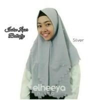 instan laser butterfly diamond silver by elheeya hijab