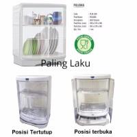 Best Seller Paling Laku RAK PIRING PLASTIK TERTUTUP ROVEGA PALOMA