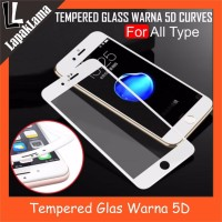 Turun Harga Tempered Glass Warna 5D FULL Melengkung For Vivo V5 Y67 V