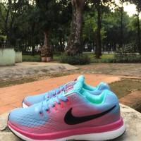 Sepatu Wanita - Nike Zoom Lunar Flyknit 3 Light Blue Pink - GO