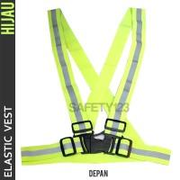 Elastic Scotlight Vest Rompi Karet Safety Proyek V Guard Hijau