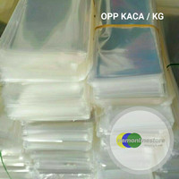[HARGA PER 1 KILO] Plastik Opp kaca Bening Untuk Kemasan Aksesoris