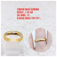 cincin emas kuning 1 56 gr
