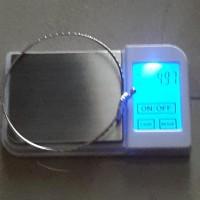 gelang emas putih 75 4 97 gram mulus
