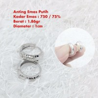 Anting emas putih 1 86 gram